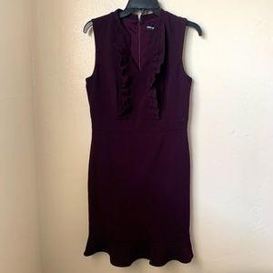 Karl Lagerfeld Purple Dress Zip Up Closure NWT